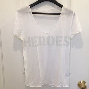Zadig & Voltaire White Heroes Tshirt Size S